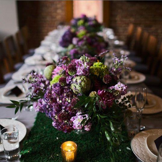 Head table floral arrangement