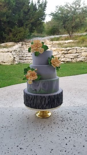 Modern nature cake