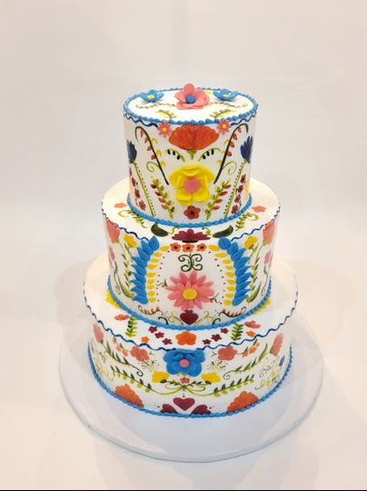 Mexican Fiesta Themed Cake