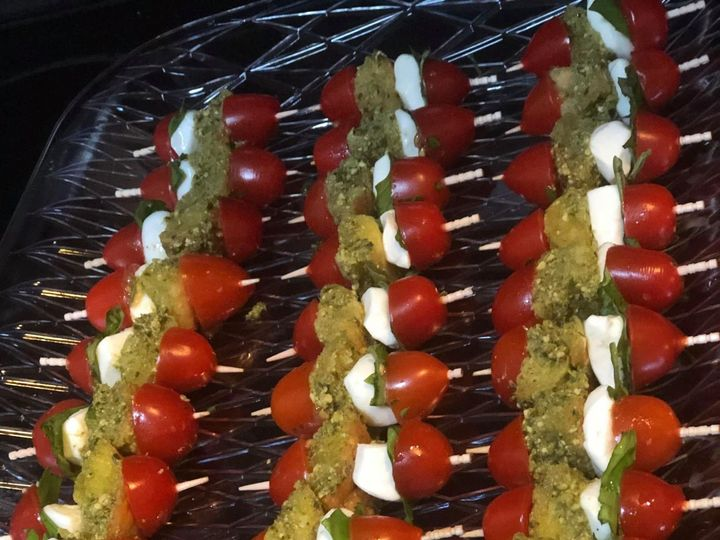 Tmx Caprese Skewers Fresh Mozzarellas Tomato Basil And Housemade Pesto Soaked Bread Bites Drizzled In Balsamic Reduction 51 1044003 1562947048 Edgewater, FL wedding catering