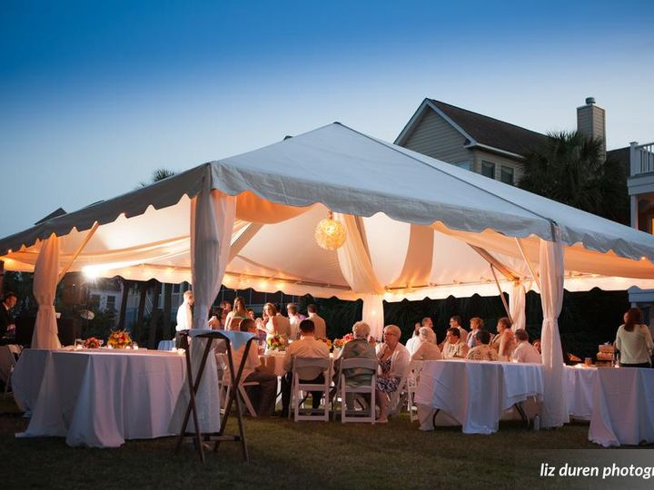 Tmx South Lawn Tented Reception At Dusk 51 125003 Isle Of Palms, South Carolina wedding venue