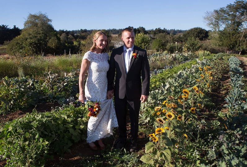 Wedding at the University of Santa Cruz Farm