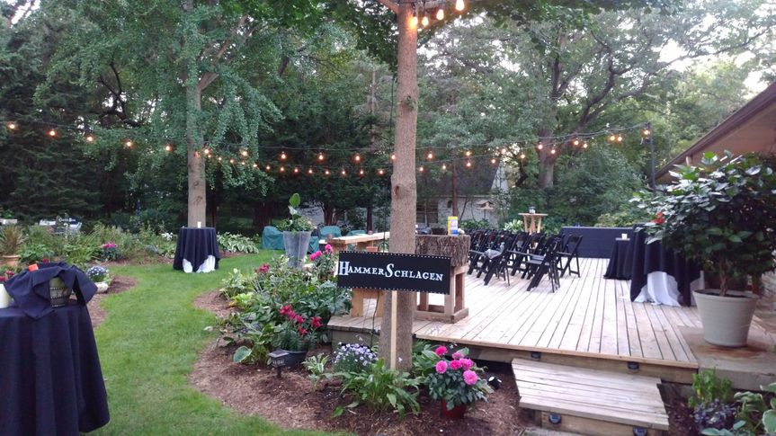 Backyard wedding setup