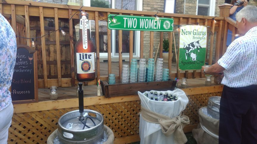 Beverage station and kegs