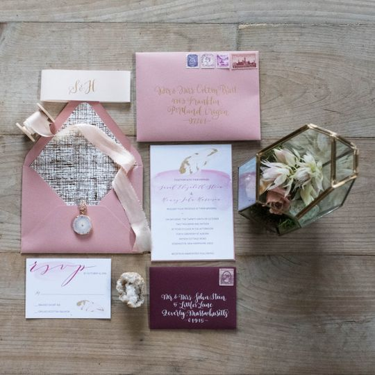 boho wedding invitation style suite