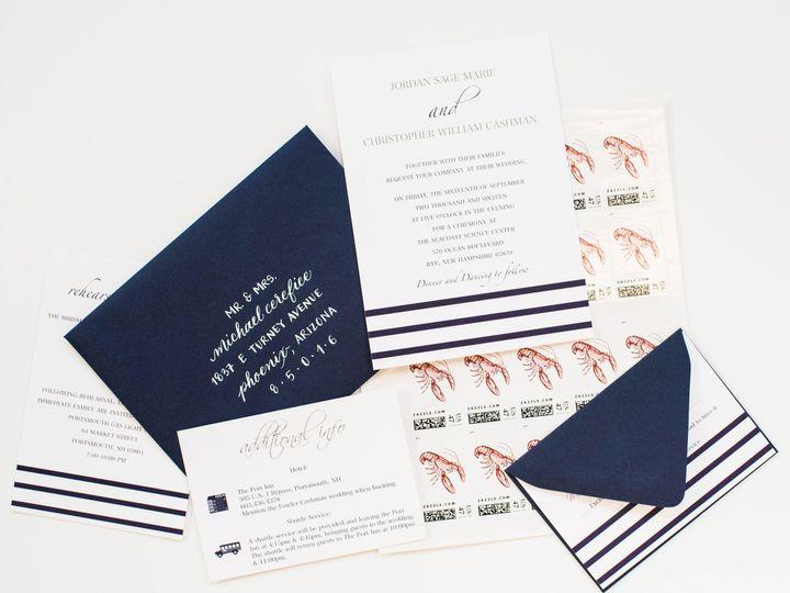 Tmx 1485293696908 Striped Wedding Invitation Suite 1 Newburyport wedding invitation