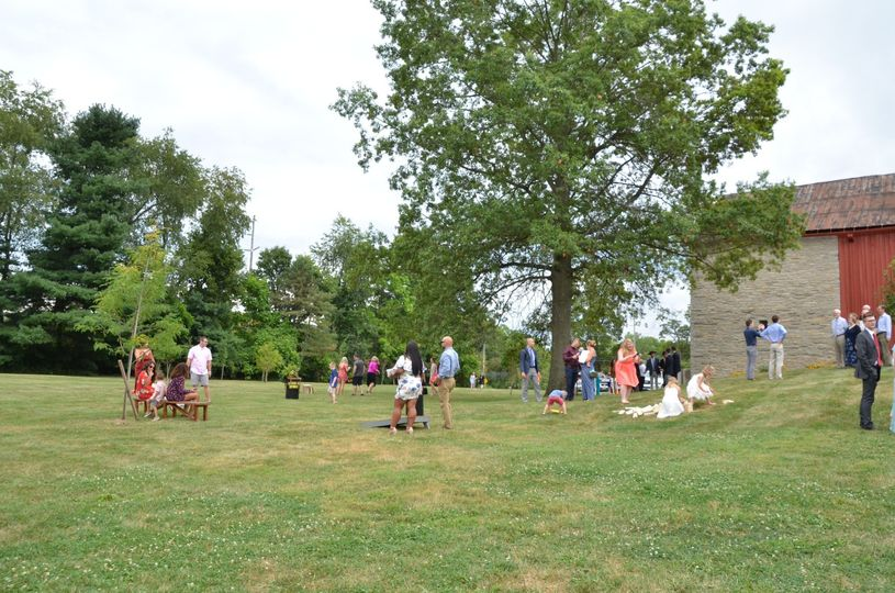 Guests on the lawn