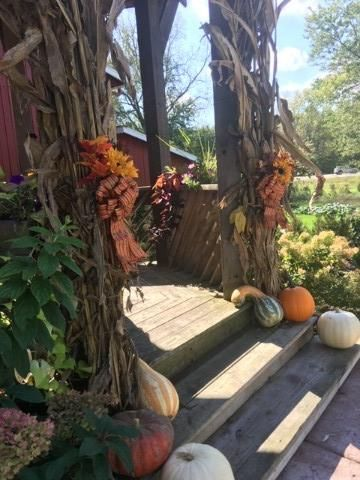 Gazebo decked out for the fall
