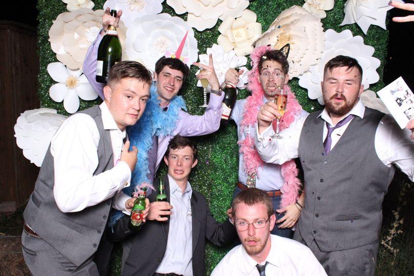 Men at the wedding