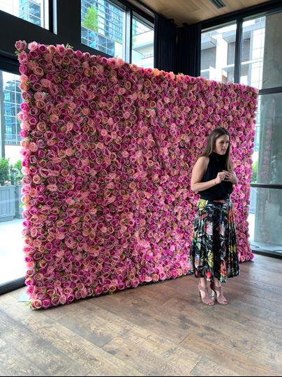 Bride Flower Wall