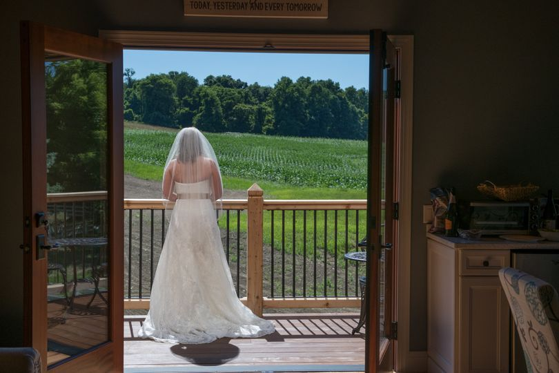 Looking out from the bridal balcony