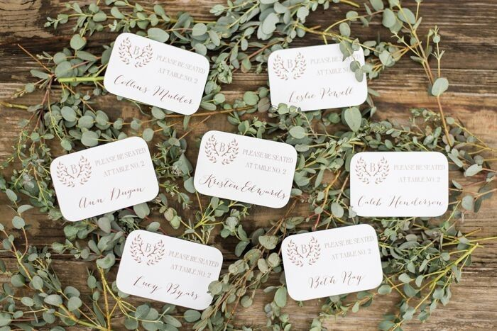 Sample name cards