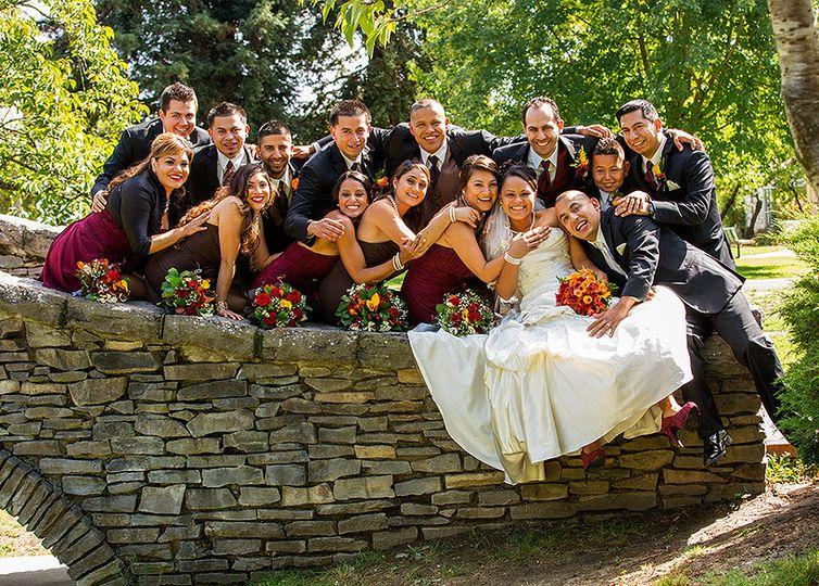 bridal group shot juliard