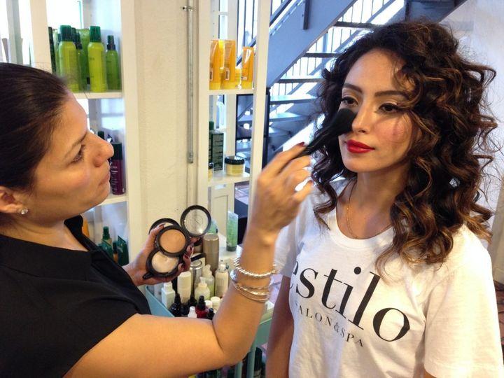 vanessa tort of estilo salon spa makeup by lisa