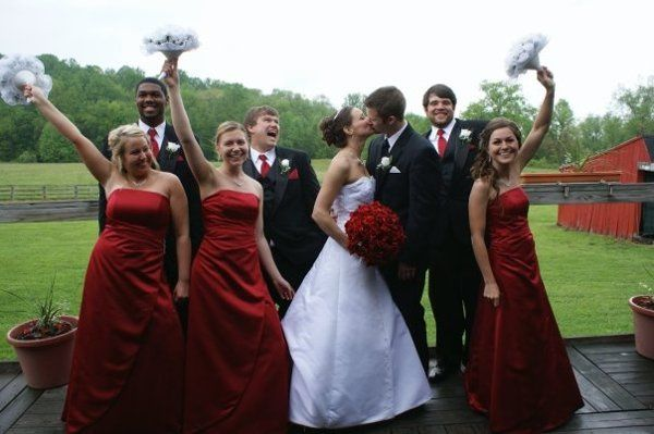 The wedding party on our 25' x 45' deck overlooking the North Meadow.