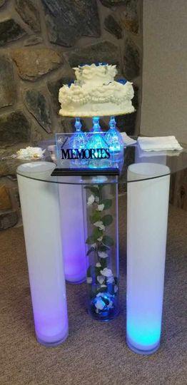 Elegant cake table