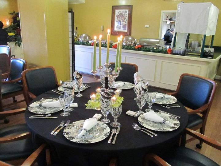 Tmx Black Table Decor 51 169003 Shreveport, Louisiana wedding planner