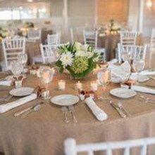 Beige table linen