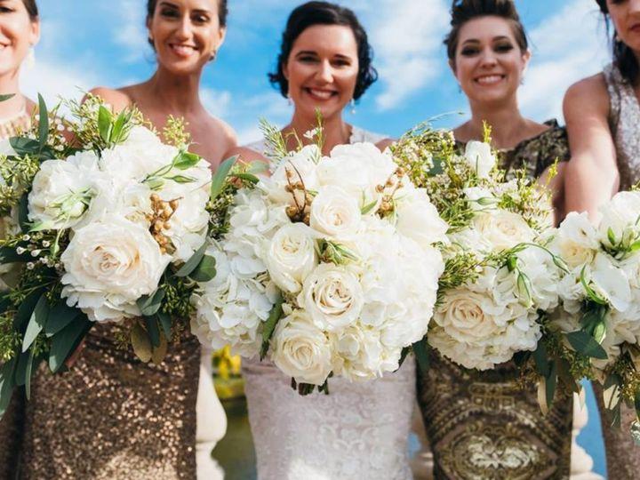 Closeup of bouquets
