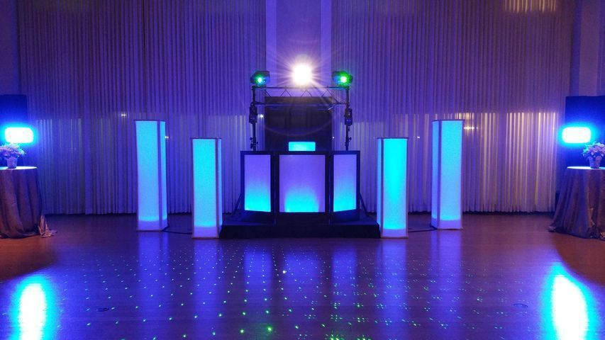 You've chosen the venue and you want everything to be beautiful.  Your DJ's setup should be visibly...