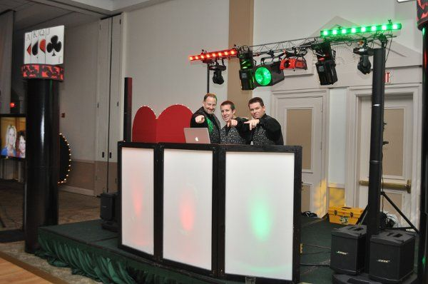 DJ's Jake, Jesse, and Dan getting ready to rock the house!