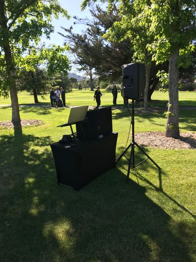 Outdoor DJ station