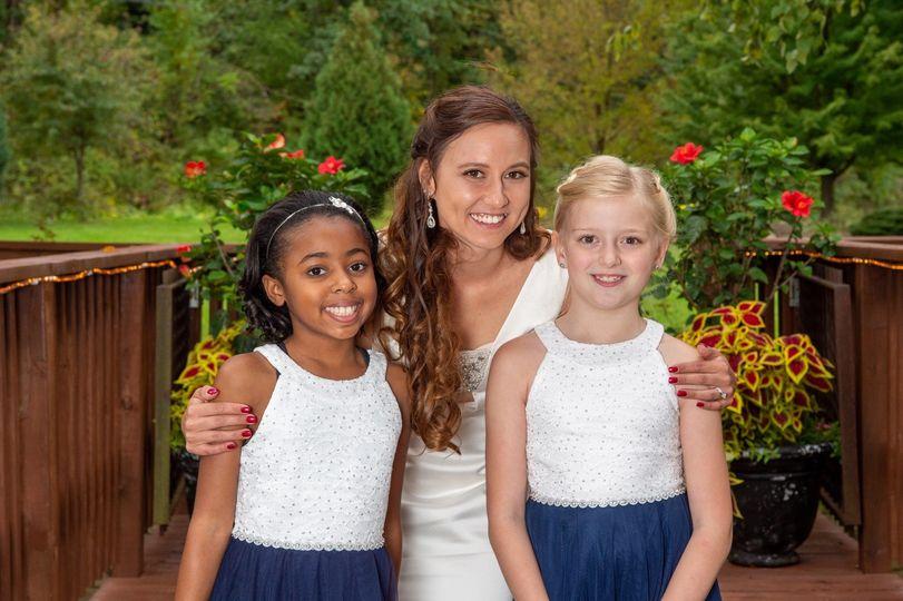 Bride and Nieces