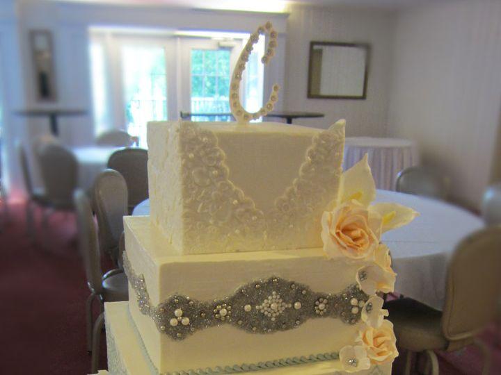Tmx 1410009695353 Rachel Germano Cake Williamson wedding cake