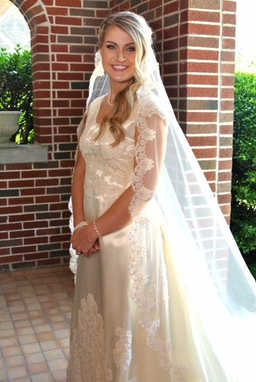 Bride with beautiful veil