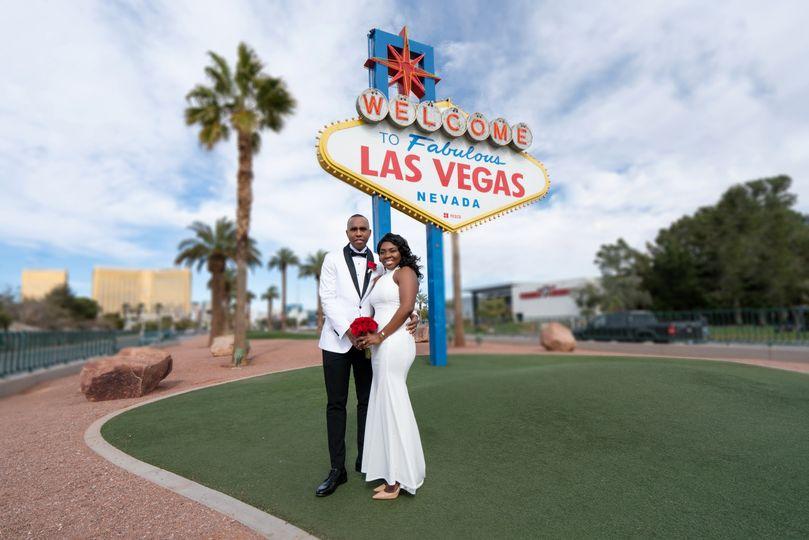 Cameshia & Paul Vegas wedding