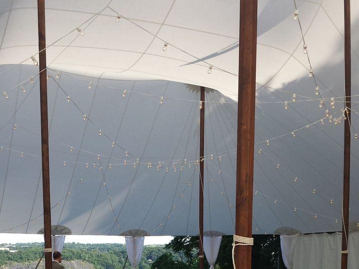 Tmx 1528378147 E039af62db63f0ae 1509591709563 Carly Bistro Lighting Sailcloth Tent Newtown, CT wedding planner