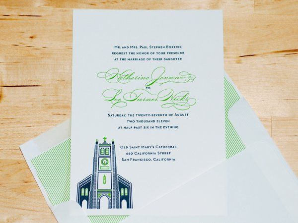 Church wedding invitation