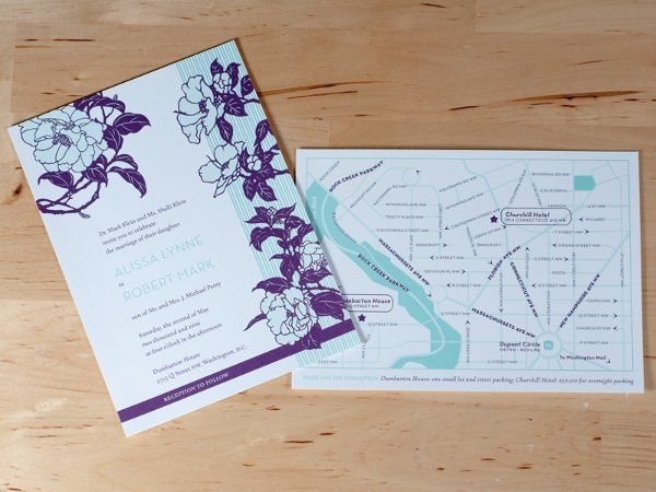 Invitation and map