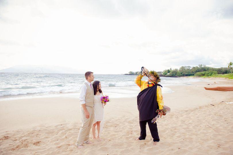 A Maui beach wedding at Maluaka Beach