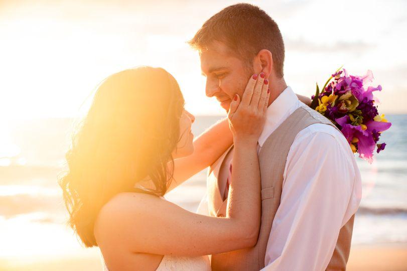 Sunset Wedding in Maui, Hawaii