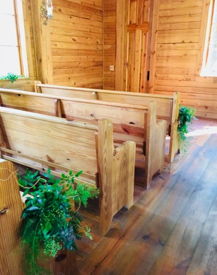 Hand made pews