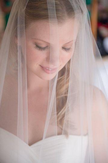 Bride in her veil