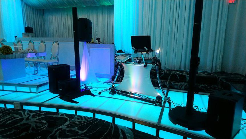 DJ Setup with lighted floors