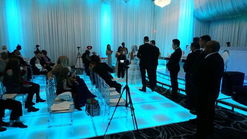 Wedding Ceremony lighted floor