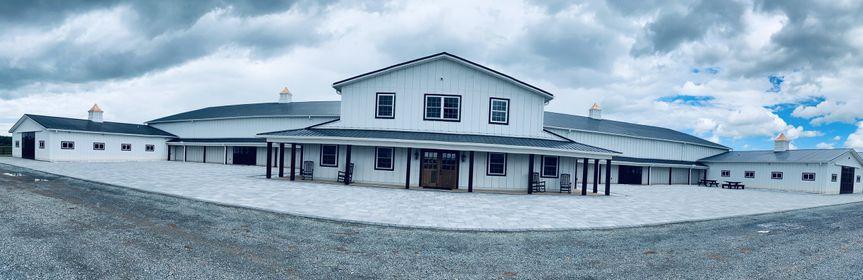 Main barn and patio