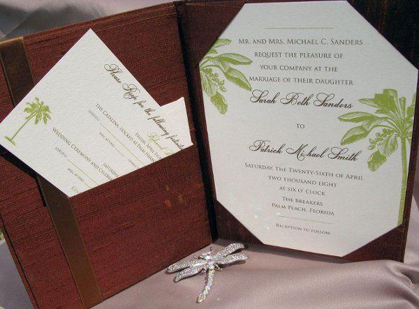 Dupioni silk folio invitation