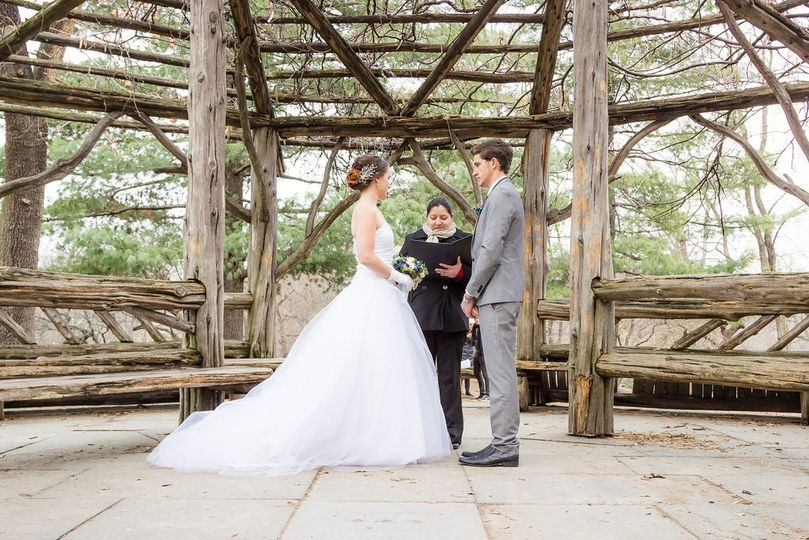 cop cot gazebo central park weddings