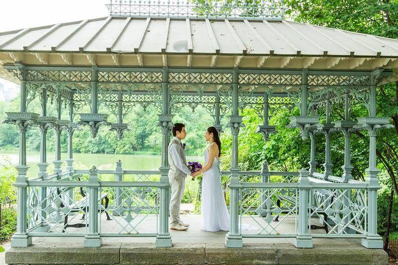 ladies pavilion central park wedding new york city