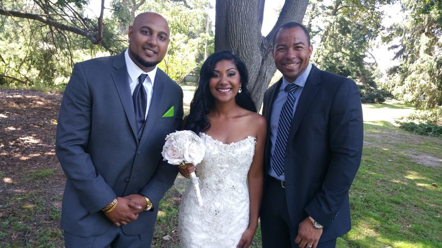 Wayde and the newlyweds