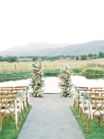 Ceremony by pond
