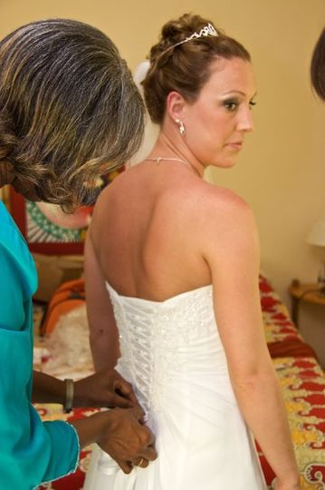 April 2009 - Jamaica destination wedding makeup & hair for tomlinson-spinner (bride & mother-in-law)