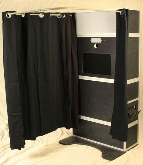 booth with curtain