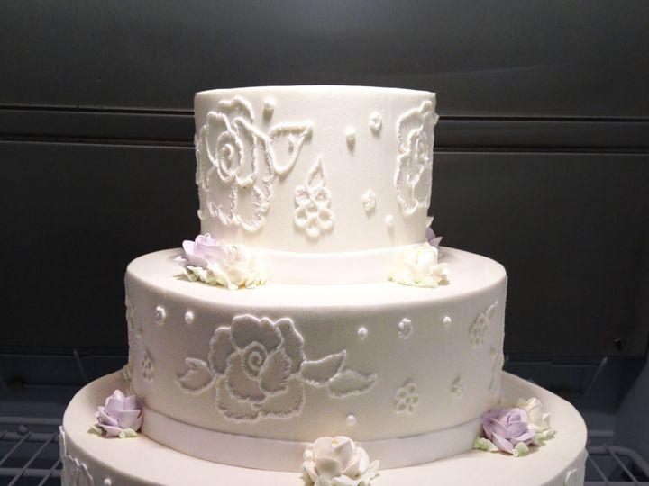 Tmx Buttercream Lace Applique Wedding Cake 51 1052203 Haledon, NJ wedding cake
