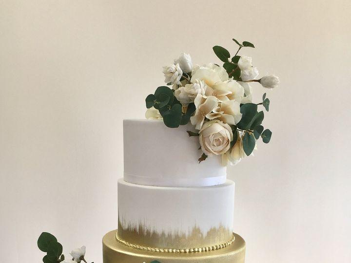 Tmx Gold And Ivory Flowers 51 1052203 V1 Haledon, NJ wedding cake