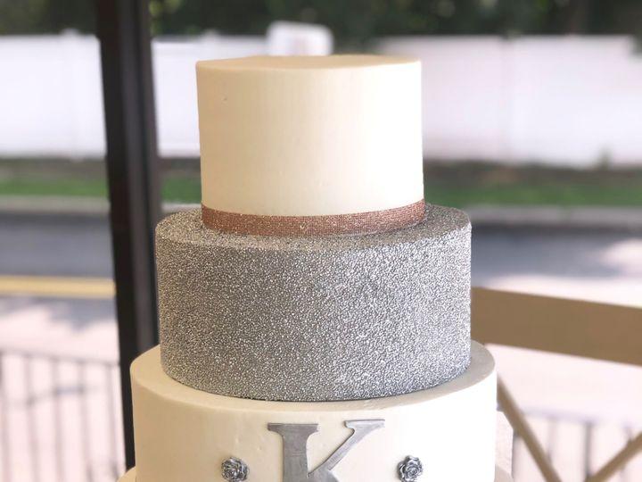Tmx Siver And Rose Gold Monogram Cake 51 1052203 157737614479335 Haledon, NJ wedding cake